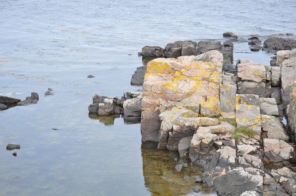 Stone, Sea, Skåne, The, Höganäs, Sweden, Water, Stones