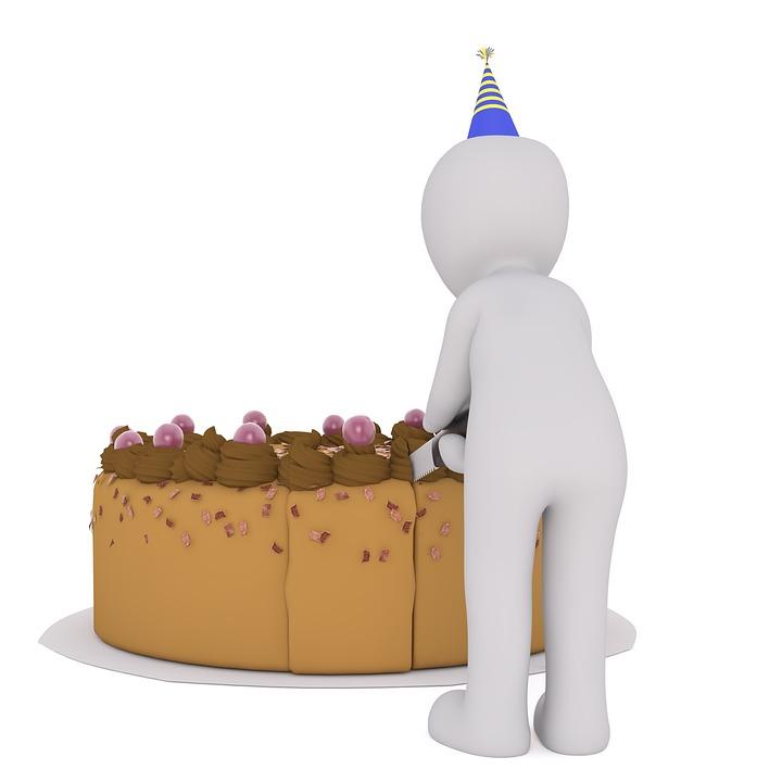 Birthday Cake, Cake, Cutting Of, Birthday, Sweet
