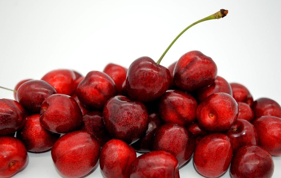 Cherries, Sweet Cherries, Fruit, Red, Ripe, Fresh