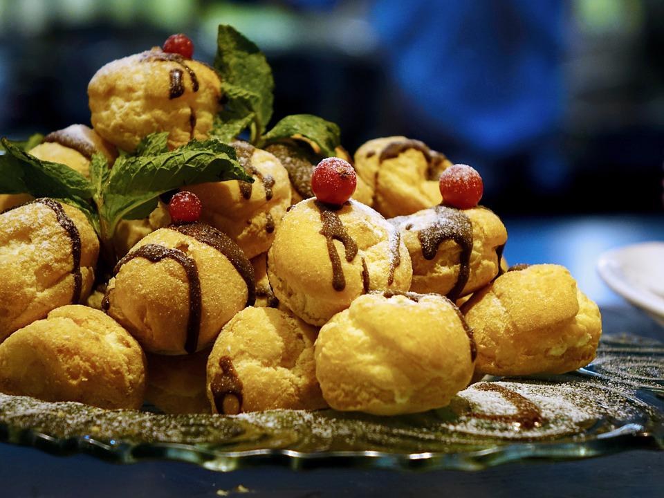 Cream Puffs, Delicious, Confectionery, Food, Sweet