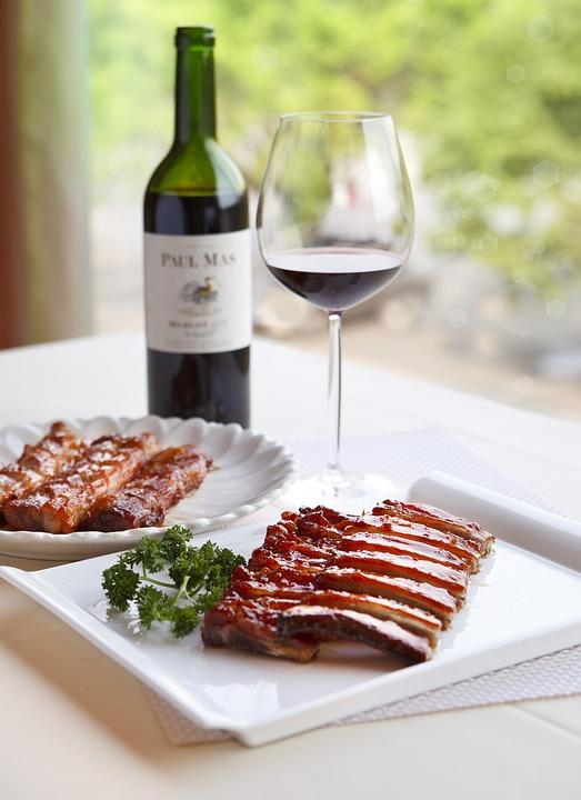Wine, Food, Delicious, Eat, Pork Ribs, Sweet