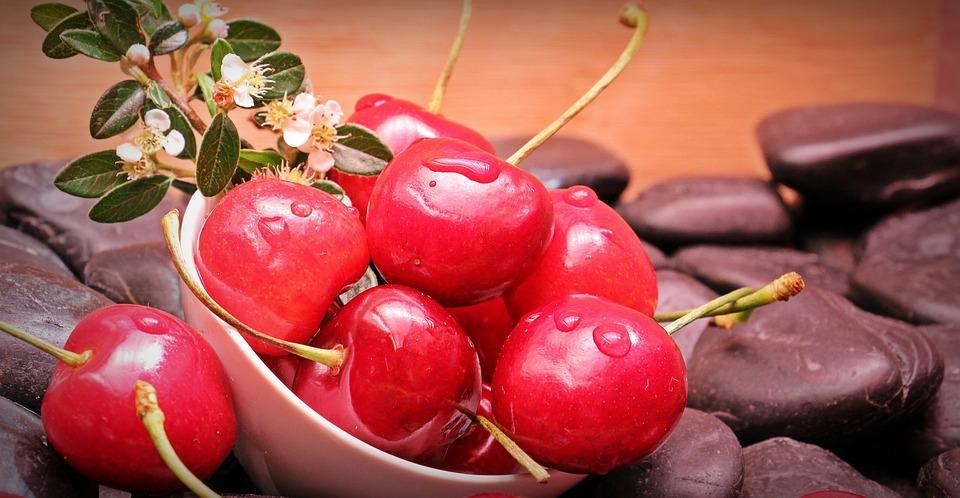 Cherries, Fruits, Fruit, Vitamins, Food, Sweet, Eat