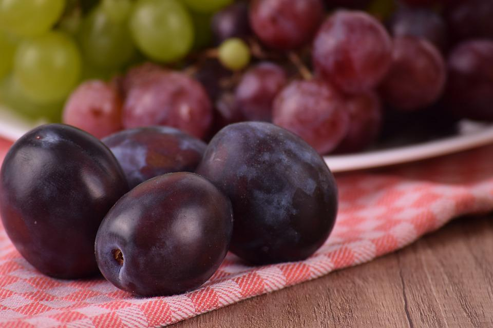 Fruit, Food, Healthy, Berry, Grape, Plums, Sweet, Fresh