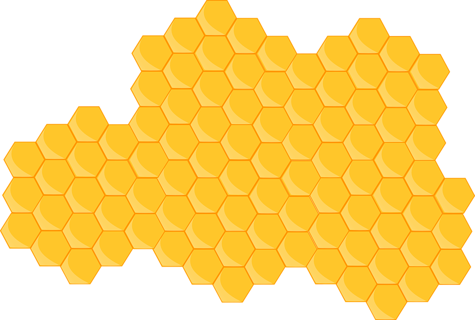 Hive, Honeycomb, Bee, Hexagon, Yellow, Sweet, Pattern