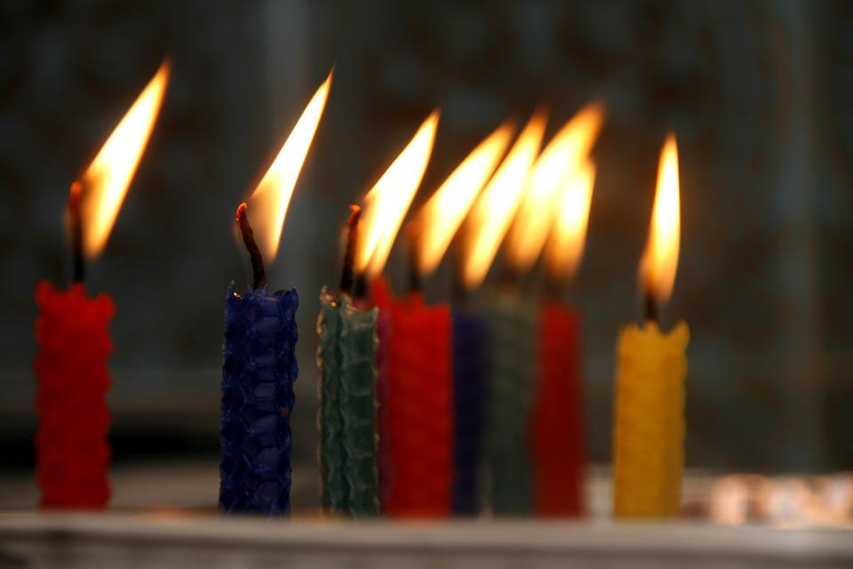 Birthday, Candle, Flame, Macro, Happy, Sweet, Colorful