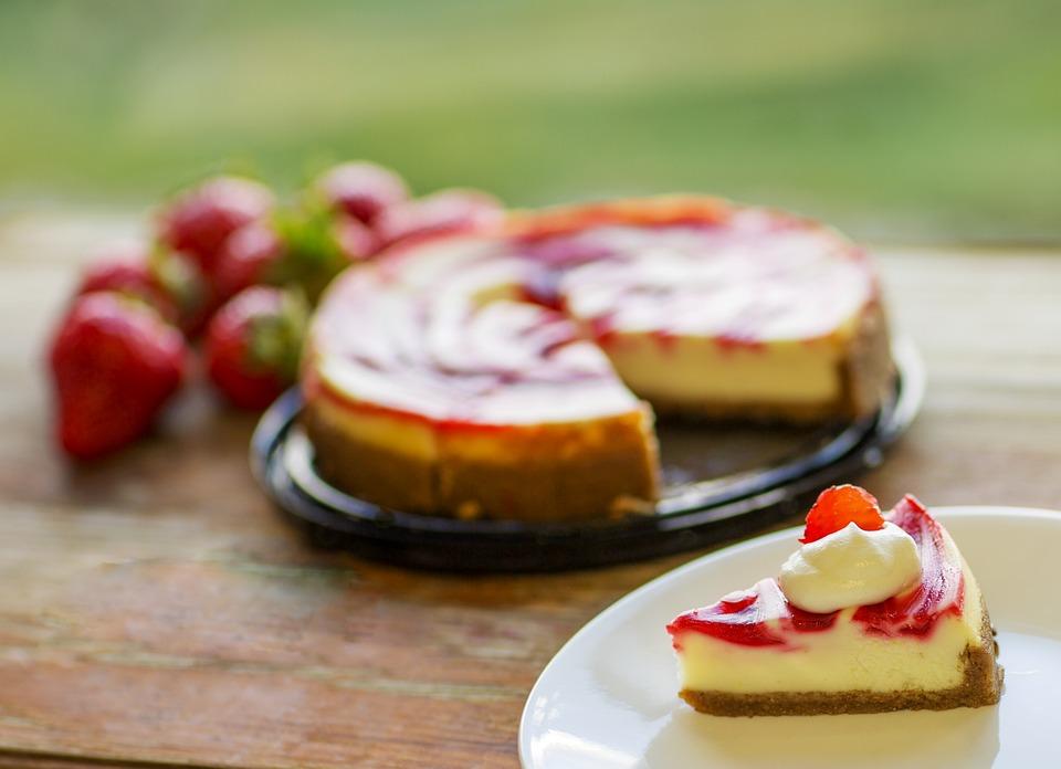 Cheesecake, Dessert, Piece, Cake, Food, Sweet