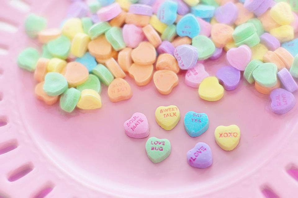 Valentine Candy, Hearts, Conversation, Sweet, Holiday