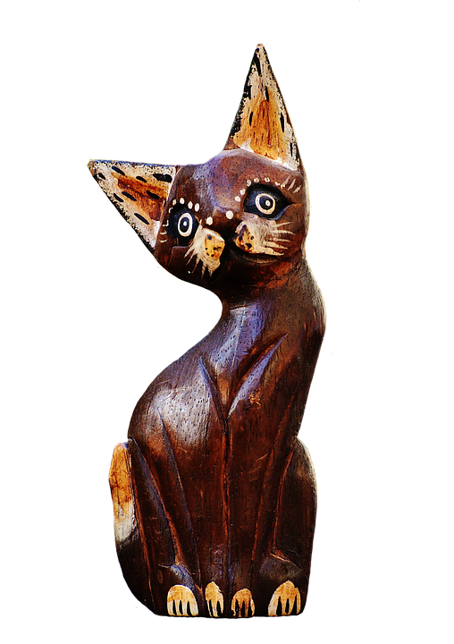 Cat, Abstract, Brown, Wood, Cute, Sweet, Funny, Figure