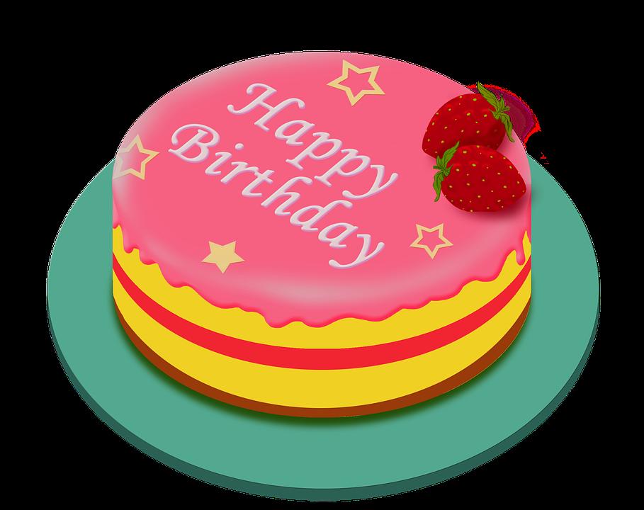 Happy Birthday Cake Pink Color