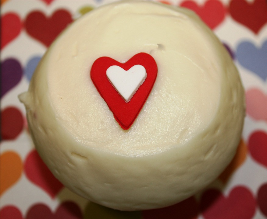 Cupcake, Heart, Love, Valentine, Cake, Sweets, Candy