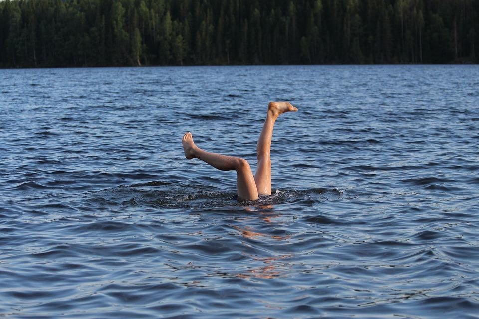 Bath, Summer, Water, Swim, Sea, Feet, Outdoor, Children