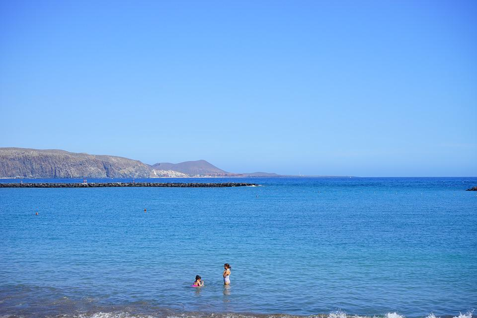 Swim, Sea, Holiday, Coast, Tenerife