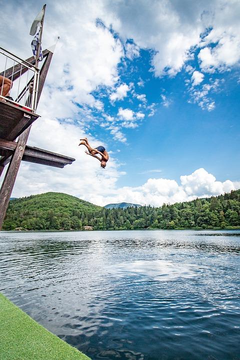 Jump, Swim, Lake, Fun, Water, Summer