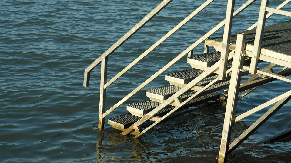 Water, Lake, Stairs, Entry, Jetty, Web, Nature, Swim