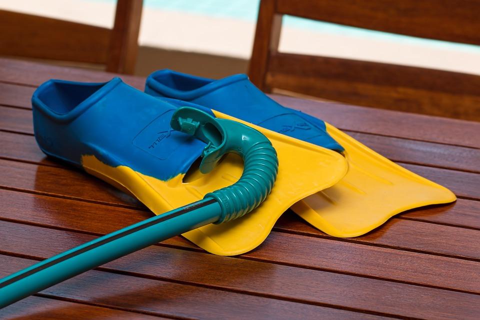 Swimming, Flippers, Snorkel, Summer, Fun, Swim