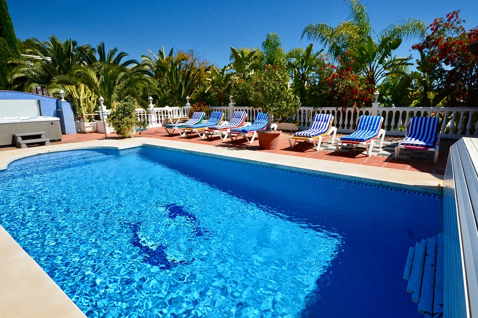 poolside swimming pool swimming holiday deckchairs - Swimming Pool Deck Chairs