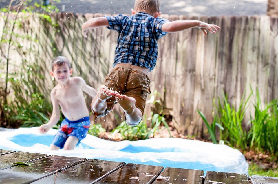 Swimming, Pool, People, Kid, Child, Boys, Playing