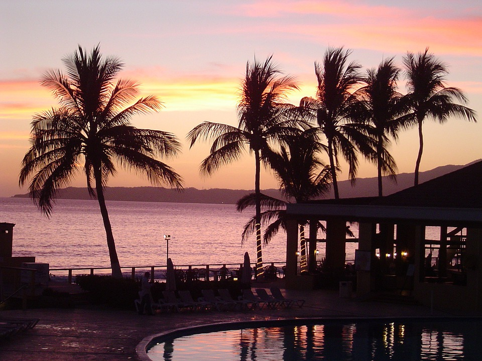 Sunset, Sun Sunset, Sea, Clouds, Pool, Swimming Pool