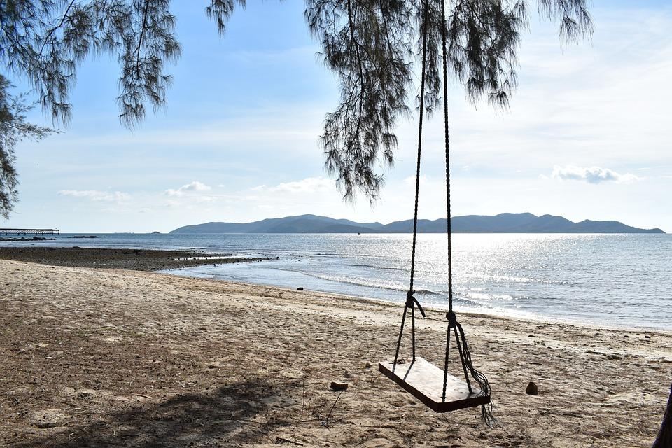 Swing, Beach, Sky, The Island, Tour, Summer, Holidays