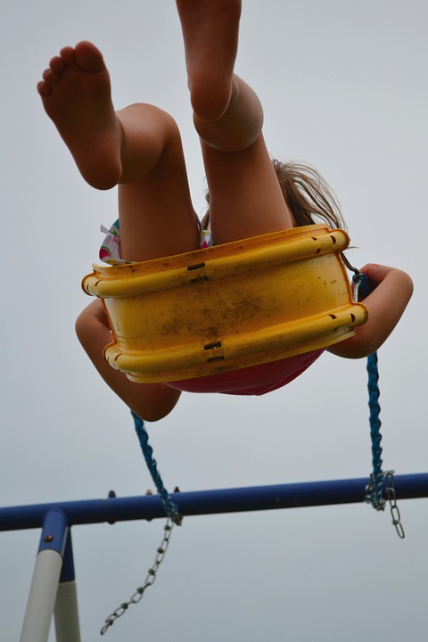Girl, Swing, Barefoot, Feet, Swinging, Female, Summer