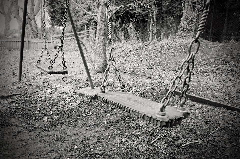 Old, Swing, Swings, Abandoned Child, Macro, Chains