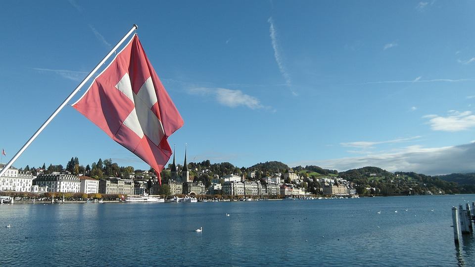 Lucerne, Lake Lucerne Region, Swiss Flag, Flag