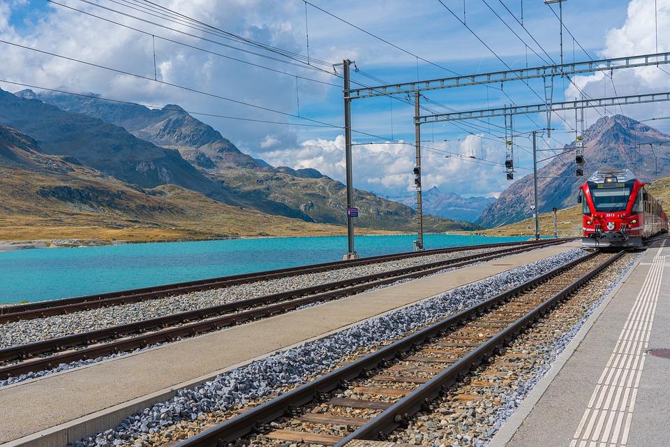 Train, Railway, Railway Station, Swiss Railways, Rails