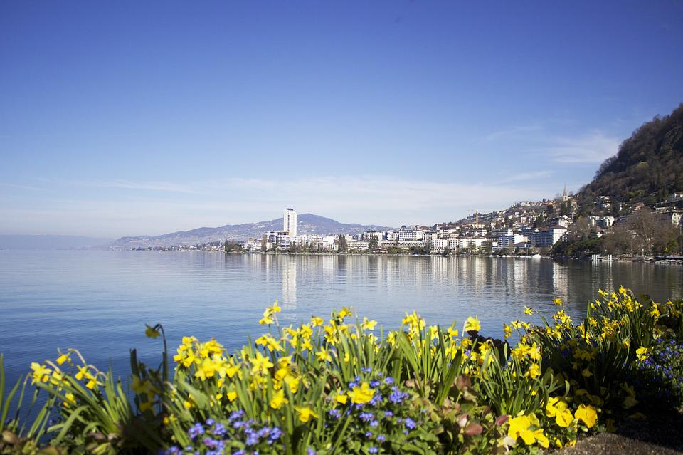 Montreux, Swiss, Switzerland, Lake, Summer, Europe