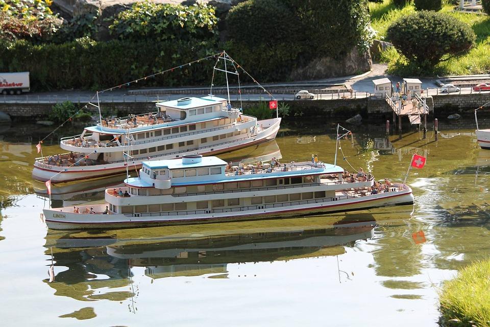 Boat, Model, Swissminiatur, Melide, Switzerland