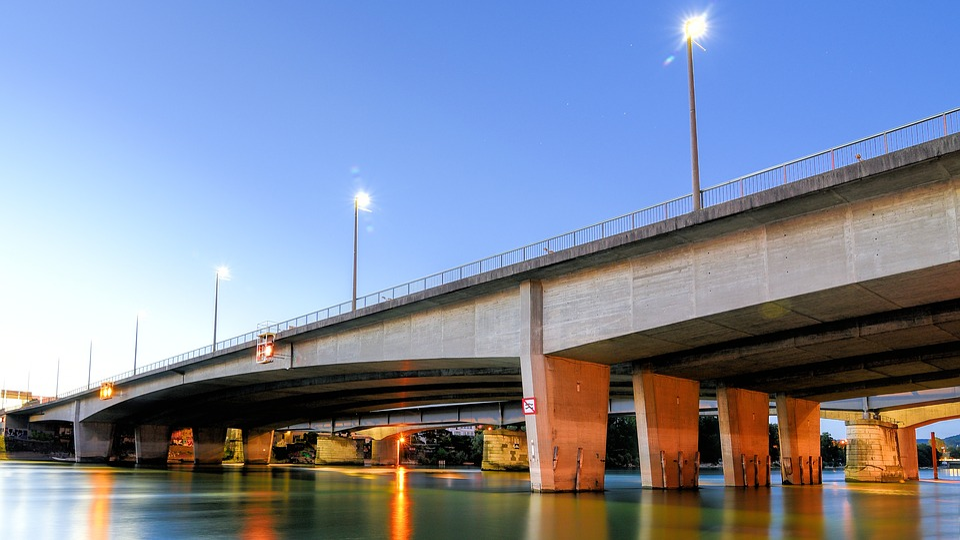 Basel, Switzerland, Rhine, Bridge