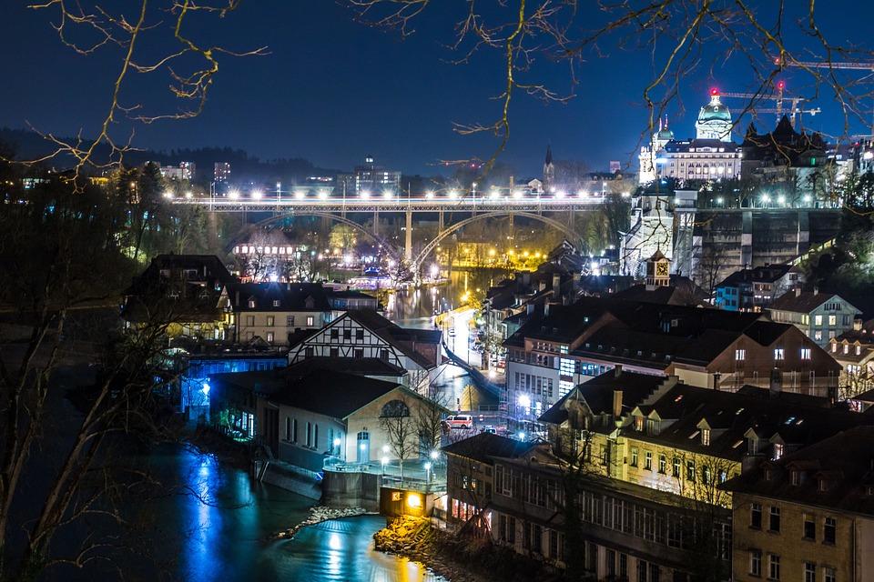 Bern, Switzerland, Rose Garden, Building, Downtown