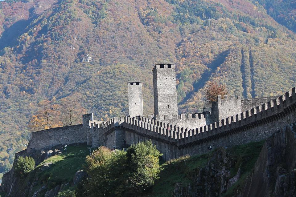 Bellinzona, Castelgrande, Switzerland