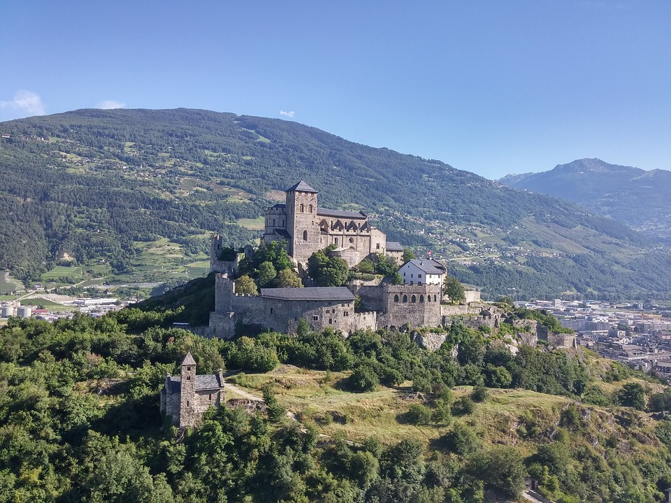 Castle, Sion, Switzerland, Europe