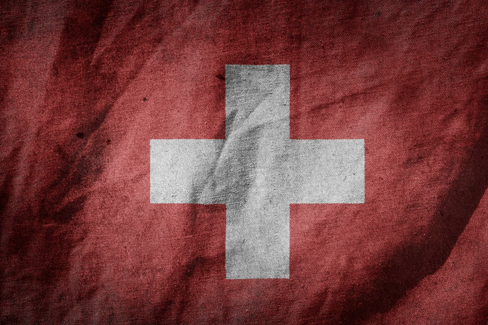 Flag, Switzerland, Europe, Colours, Blow, Country
