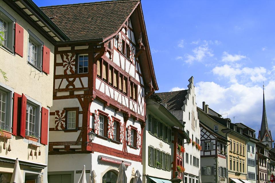 Stein Am Rhein, Fachwerkhäuser, Switzerland