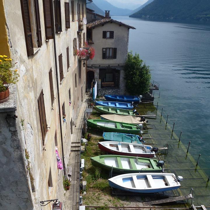 Fishing Boats, Gandria, Ticino, Switzerland