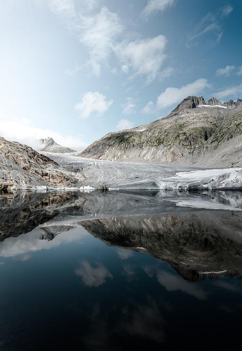 Mountain, Snow, Glacier, Winter, Switzerland, Mountains