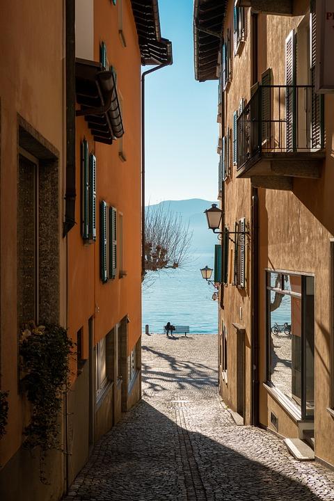 Ascona, Ticino, Switzerland, Architecture, Lake