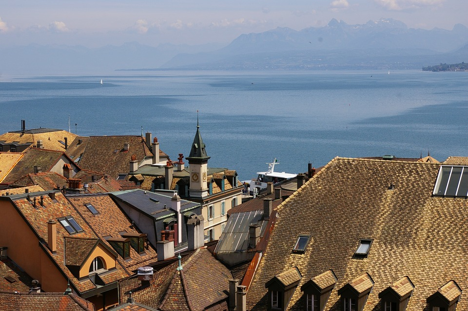 Nyon, Lake, Switzerland, Geneva, Leman, Lac, Lakeside