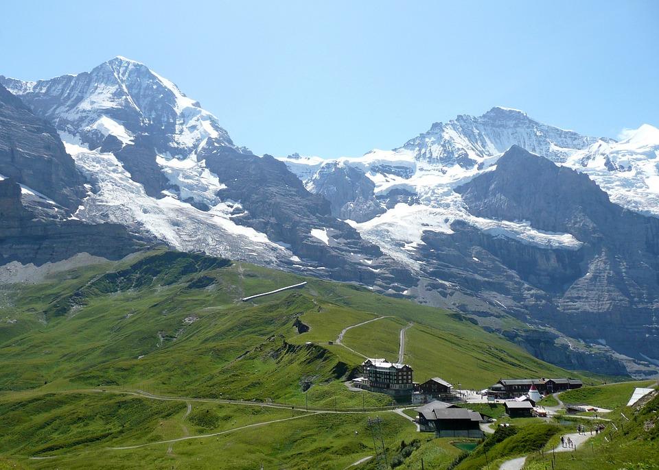 Alps, Mountains, Alpine, Landscape, Wengen, Switzerland