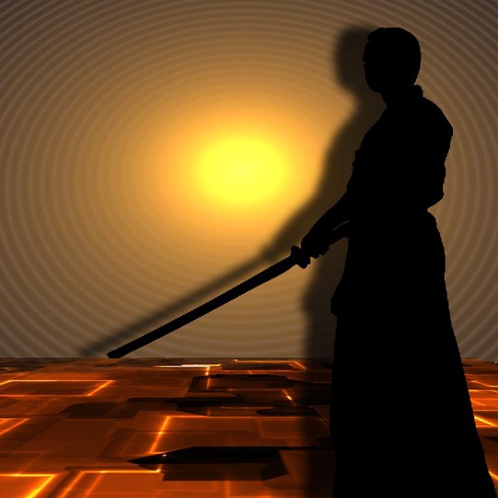 Martial Arts, Samurai, Silhuetten, Sword Art, Fighter