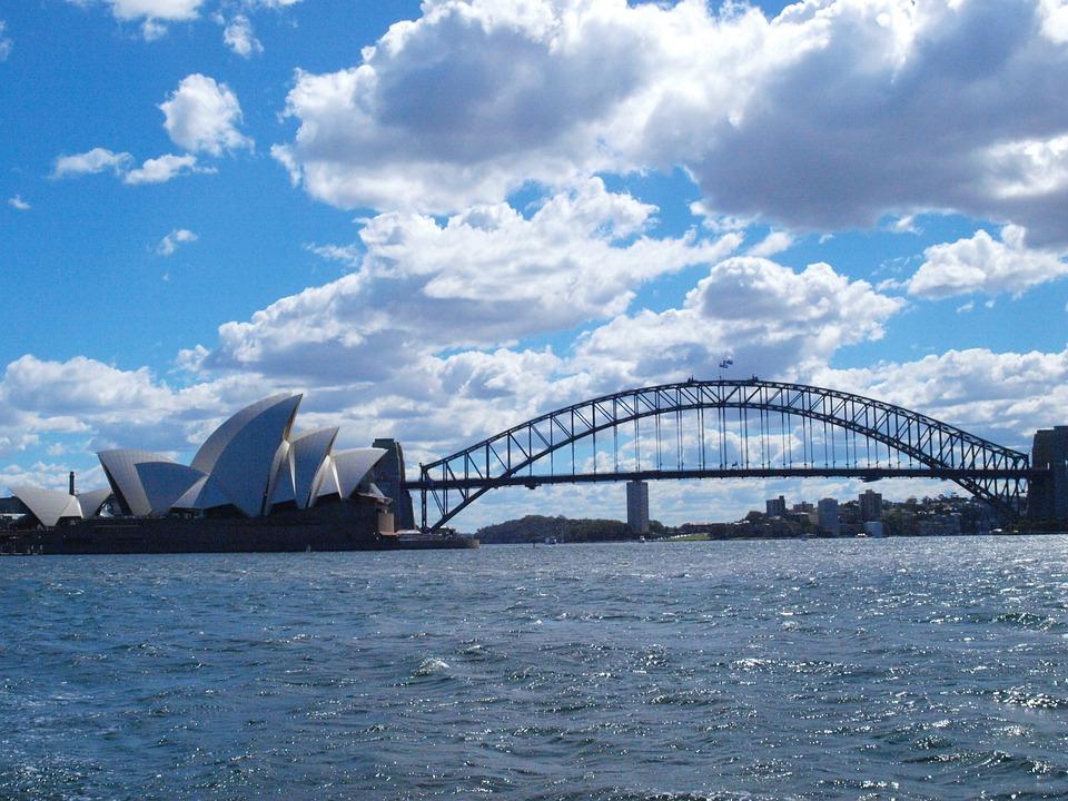 Sydney, Harbor, Bridge, Distance, Architecture, Skyline