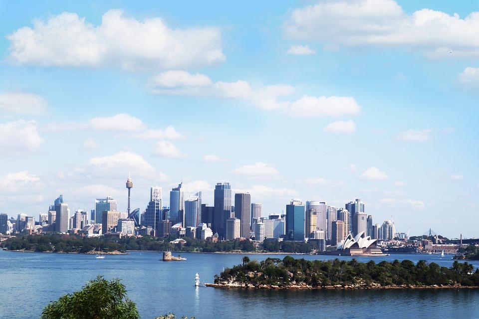 Australia, Sydney, Opera House, City, Sky, River, Cloud