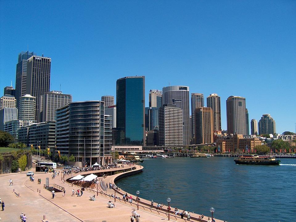 Sydney, Beach, Skyline, City