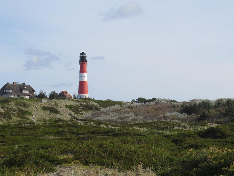 Lighthouse, Sylt, Hörnum, Heide