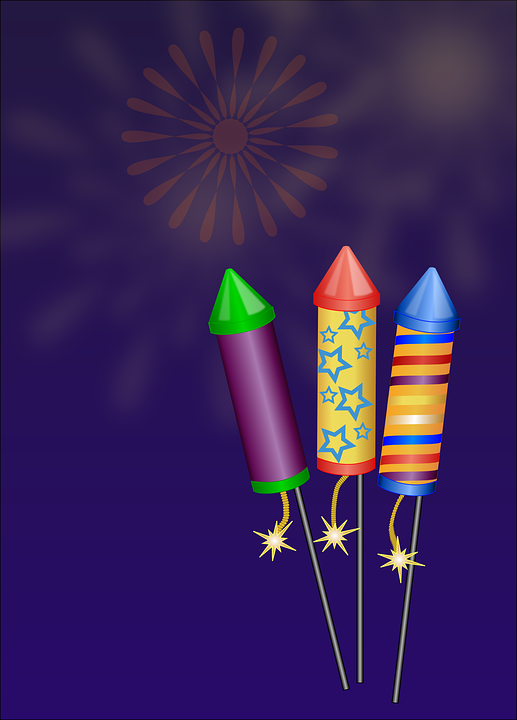 Fireworks, Rockets, Sylvester, Fire, Ignite, Explosion