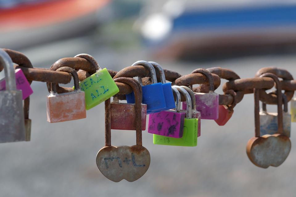 By Wlodek, Padlocks, Happiness, Colors, Chain, Symbol