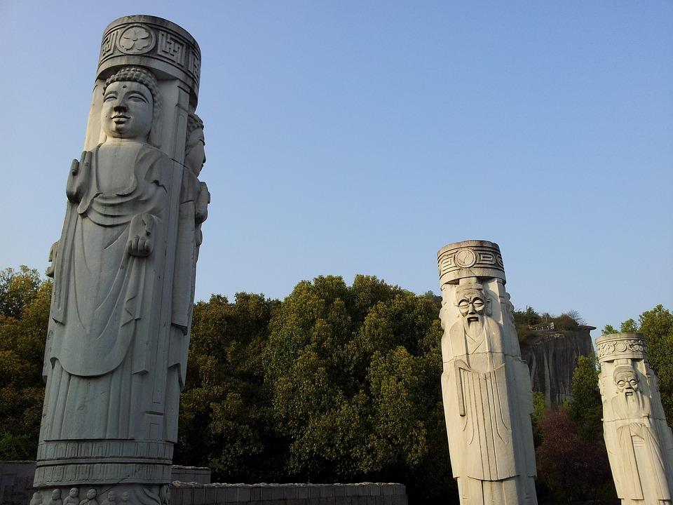 Stone Pillars, Sculpture, Symbol, Faith