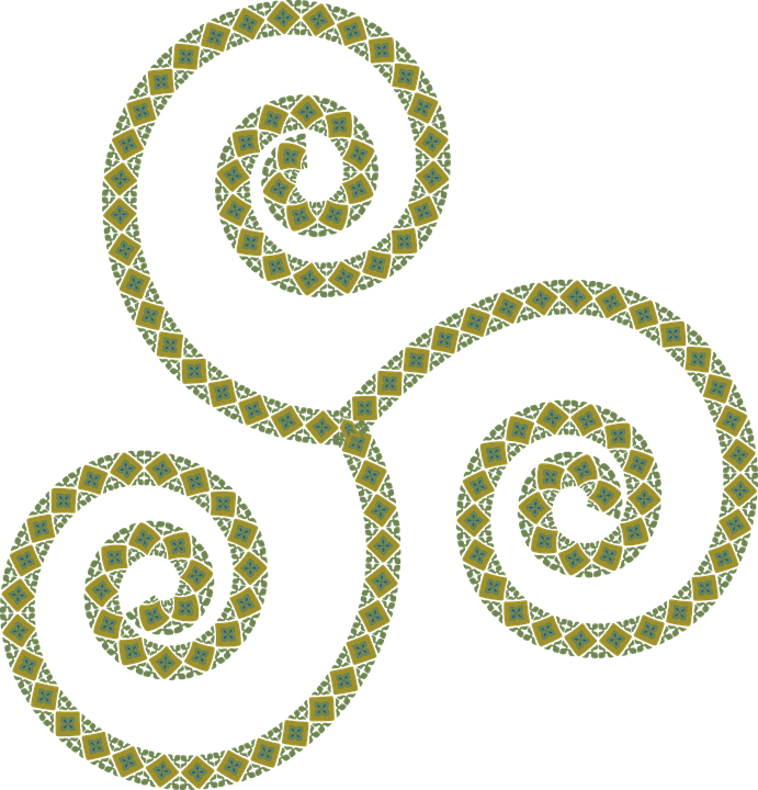 Triskell, Symbol, Celtic, Logo, Geometric, Green