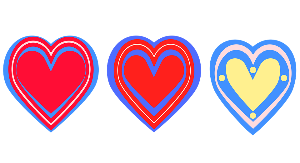 Hearts, Decoration, Isolated, Romantic, Symbol, Design